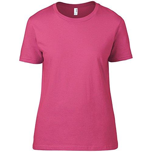 Anvil - Maglietta 100% Cotone - Donna Rosa neon