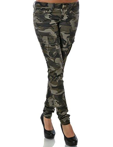 Damen Camouflage Hose Raw-boned (Röhre) No 15489, Farbe:Mehrfarbig;Größe:38 / M