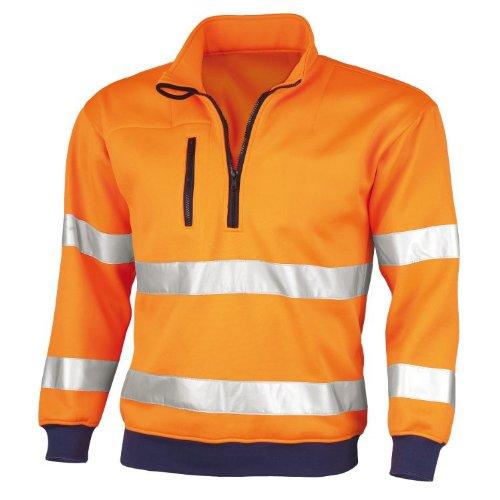 1 St/ück gelb//marine L PORTWEST B306 B306YNRL Two Tone Warnschutz-Sweatshirt
