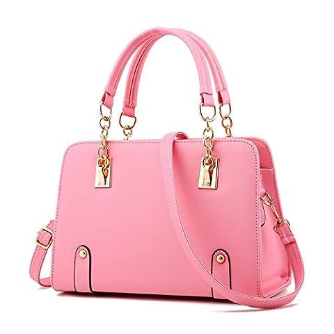 Version Coréenne Forme De Mode Ensemble Diagonale D'épaule Portable Pour Dames,Pink