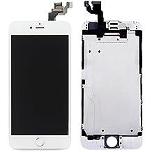 LL Trader Reemplazo de pantalla para iPhone 6 (4,7 pulgadas) Blanco LCD Touch Digitalizador Montaje Completo de la Pantalla Con Botón de inicio+Cámara frontal+Sensor de proximidad+Altavoz para el oído+Herramientas completas de Reparación
