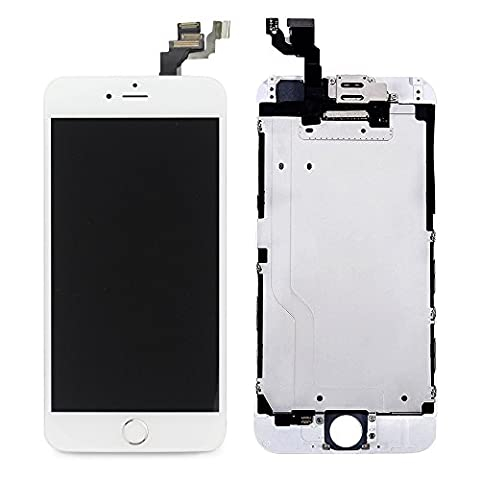 LL Trader Screen Replacement for iPhone 6 (4.7 inch) White LCD Touch Digitizer Full Display Assembly with Home Button+Front Facing Camera Proximity Sensor+Ear Speaker+Full Repair