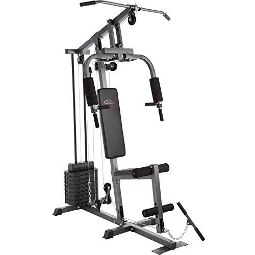 Foto de TecTake Multiestación maquina de musculación | Módulo de mariposa | Estribo para piernas | 8x4,5 kg | Barra - varios modelos (Typ 1 | No. 402756)