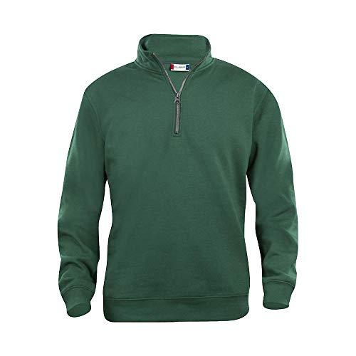 Clique - Basic Half-Zip Sweatshirt/flaschengrün (68), XL -