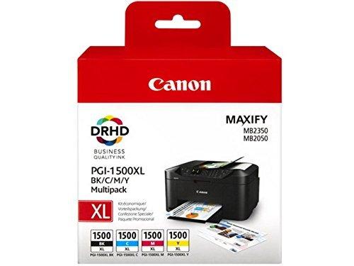 1x Satz Original Tintenpatrone Canon PGI-1500 für Canon Maxify MB 2050 - BK, Cy, Ma, Ye - -