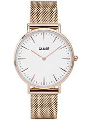 Cluse Unisex-Armbanduhr Analog Quarz Edelstahl CL18112