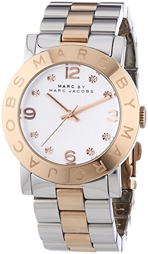 Marc Jacobs Women's Quartz Watch with Silver Dial Analogue Display and Multicolour Stainless Steel Bangle MBM3194