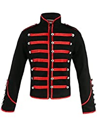 New Men's Jawbreaker Steampunk Emo Punk MCR Military Drummer Parade Jacket