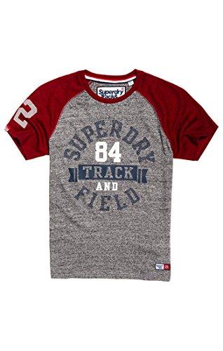 Trackster Baseball tee, Camiseta para Hombre, Gris (Portland Grey Grit/Redhookgrit QI6), L Superdry