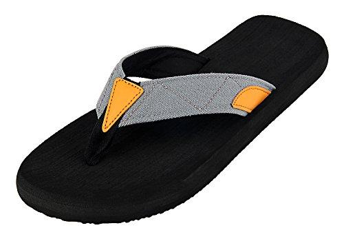 iLoveSIA Zehentrenner Jungen Grau Sandalen Pantoletten Strand Sommer Outdoor Thong Flip-Flops US9 - Strand Sandalen Flip Flops Thongs