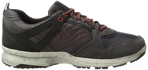 Geox U Geghy B Abx A, Sneakers Basses Homme Gris (Anthracite/dk Grey)