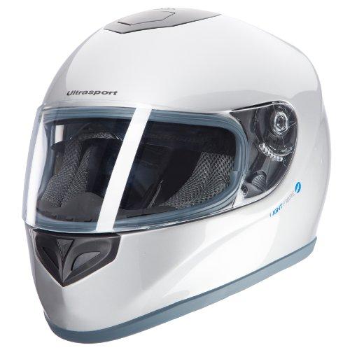 Ultrasport Moto Casco de Fibra de Vidrio FH-3