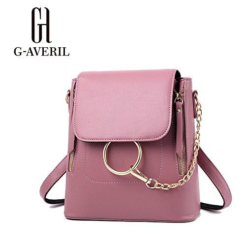 (G-AVERIL) Nuovo zaino da viaggio borsa zaino scuola femminile zaini scuola zaino da viaggio zainetto in PU pelle zaino rosa