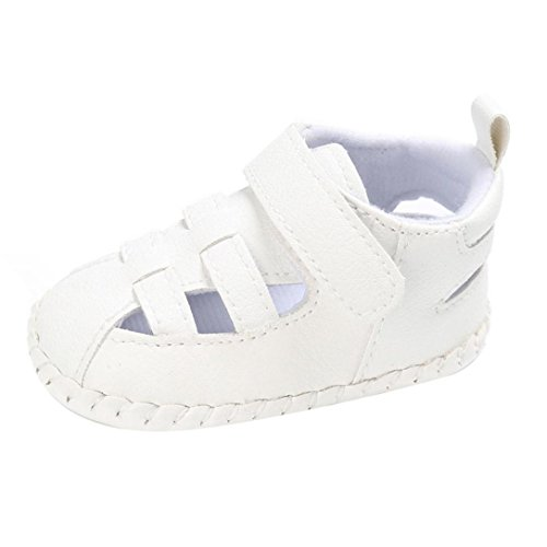 Pour 0-18 mois Bébé,Transer ® Bébés garçons mignons chaussures de berceau anti-dérapantes semelles souples sandales Blanc
