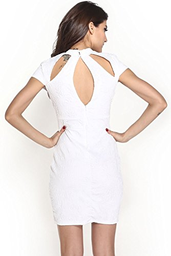 Dissa® femme Blanc SY21076-1 robe de cocktail Blanc