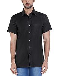 Raymond Mens Formal Shirt (8907253655952_RMSY05135-K9_39_Black)