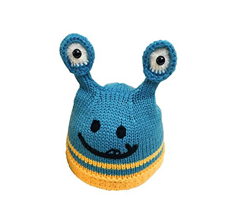 Fortuning's JDS® Smiling Face Tentacles Eyes Knitting Hat Woolen Caps for 3-18 Months Kids