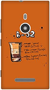 The Racoon Lean Orange B52 hard plastic printed back case / cover for Nokia Lumia 925