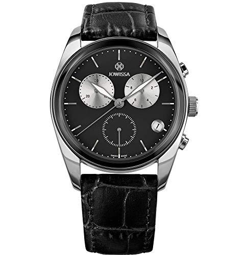 Jowissa Lux Swiss J7.096.L - Reloj para Hombre, Color Negro y Plateado