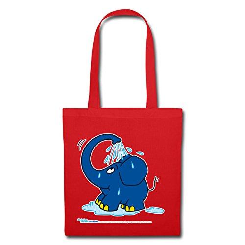 Spettacolo Spreadshirt Con La Borsa In Tessuto Elefante Piccolo Elefante Rosso