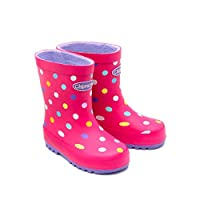 Chipmunks Girls Jill Pink Spot Wellingtons (10 UK Child)