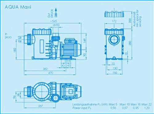 Filterpumpe Aqua Technix Maxi 16 - 2