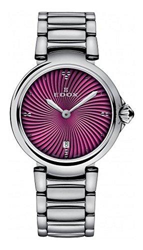 Edox Womens Analog Swiss-Quartz Watch with Stainless-Steel Strap 57002 3M Roin