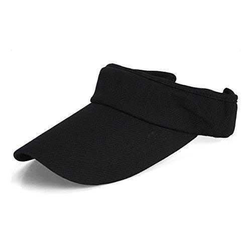 westeng Damen-Sonnenkappe, schlichte Schirmmütze für den Sommer, Strand, Golf, Tennis, Sport, Reisen Freizeit, mit UV-Sonnenschutz Medium Schwarz