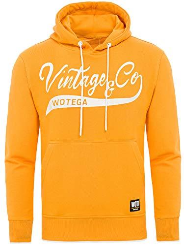 WOTEGA Kapuzenpullover Herren WT Star Hoodie - Kapuzen Pullover gelber Maenner Sweatshirt Gelber Hoodie Sweatshirt