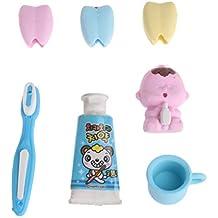 tandou 4pcs/set gomas de dientes pasta de dientes cepillo de dientes niños aprendizaje dental