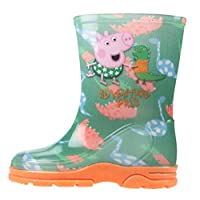 Kids Boys Girls Peppa Pig George Wellington Boots Wellies Boots Size UK 4-10