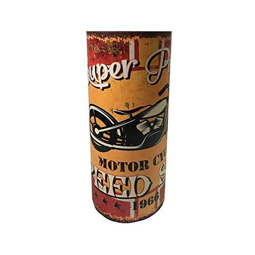 Rebecca Mobili Schrirmständer Vintage, designer Schirmhalter, Canvas MDF, Gelb, für Eingang Haus Büro - Maße: 49 x 20 x 20 cm (HxLxB) - Art. RE4832