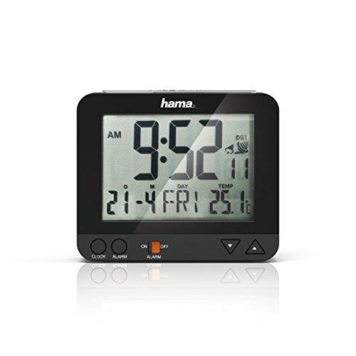 Hama Funk Wecker RC550 – sensorgesteuerte Nachtlichtfunktion, Schlummerfunktion, Temperatur- und Datumsanzeige - 11