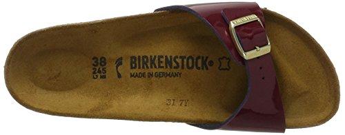BIRKENSTOCK Damen Mayari Birko-Flor Zehentrenner Rot (Lack Two Tone Wine)