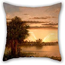 Slimmingpiggy Oil Painting Martin Johnson Heade - Florida Sunrise Pillow Cases 16 X 16 Inches / 40 By 40 Cm Gift Or Decor For Boy Friend,outdoor,husband,son,kids,christmas - Double Sides