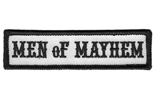 Titan One Europe - Men of Mayhem Motorcycle Club Biker Jacket Vest Patch Parche Motero Bordado Termoadhesivo