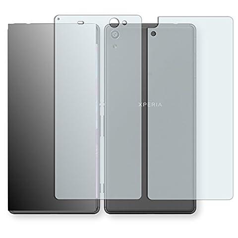 2 x Golebo Displayschutzfolie für Sony Xperia XA Ultra Vorder + Rückseite Schutzfolie AntiReflex matt (1 x VORNE und 1 x RÜCK HINTEN Folie) (bewusst kleiner als das Display, da dieses gewölbt