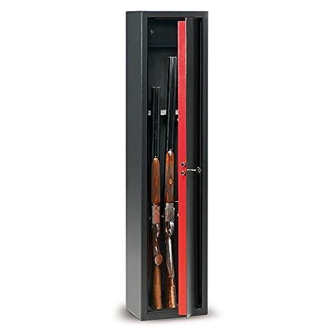 TechnomaxTCH/4 Armoire à fusils en acier avec clé à double panneton, 1380x315x220mm