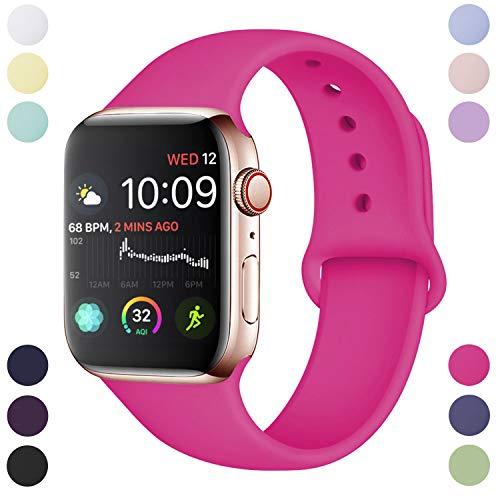 Hamile Cinturino Compatibile con Apple Watch 38mm 40mm, Cinturini Sportiva in Morbido Silicone di...