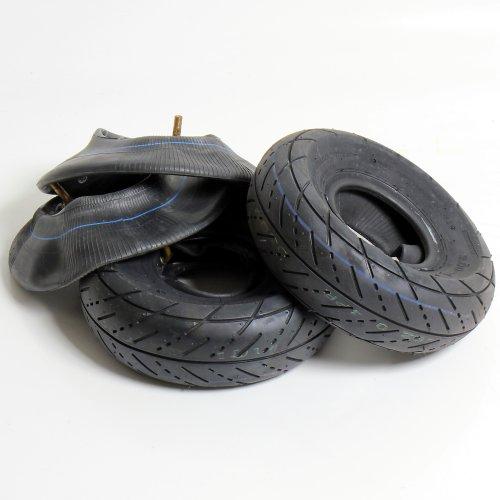 Preisvergleich Produktbild 2x Reifen + 2x Schlauch 3.00-4 für Mach1 Benzin & Elektro Scooter