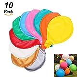 JOJOR 10 Stück Grosse Luftballons Bunt 90cm ,36 Zoll Luftballon Helium, Latex Riesige Ballon Dekoration für Hochzeit Geburtstag Taufe Babyparty Kinder Party Festival (Mehrere Farbe)