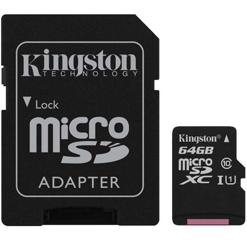 Kingston Technology 64GB MICROSDXC Canvas Select