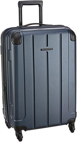 Teakwood ABS 28 cms Blue Hardsided Check-in Luggage (TR_ABS_14_Blue_M)