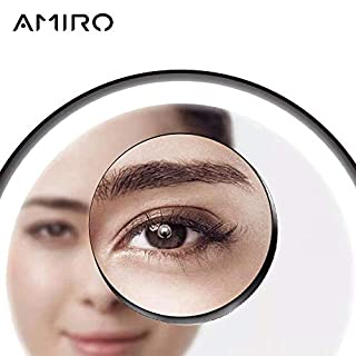 AMIRO 5 Times Magnifier Make Up Mirrors Mirror Facial Brush Cleansing Home Bathroom