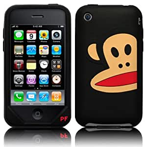 Paul Frank Apple iPhone 3G 3GS Silicone Skin Case Cover - Half Face Black