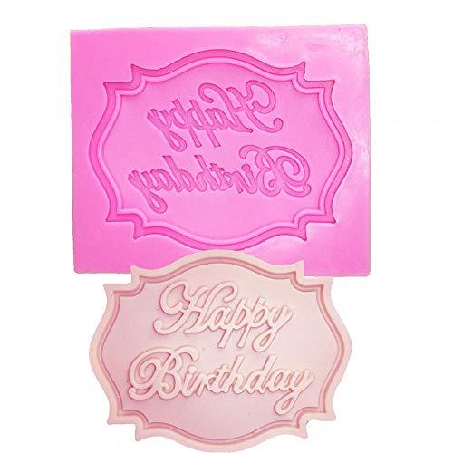 Shangcer Happy Birthday Kuchenform, Tortenform BlumenföRmig Mini-TöRtchen-Backblech Schokolade Cupcake Backform Mit Antihaftbeschichtung FüR Kleine Kuchen Menge Backenwerkzeuge