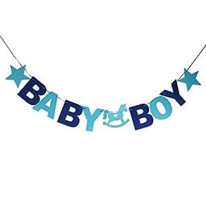 Baby Boy Guirlande Bannière Banderole Décoration pour Baptême Fête de Naissance