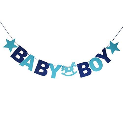 Baby Boy Bunting Girlande Banner Baby Shower Party Dekoration