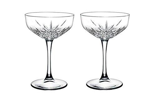 Pasabahce 440236 Sektschale ?Timeless? im Kristall-Design, Höhe ca. 15,7 cm, 2er Set aus Glas