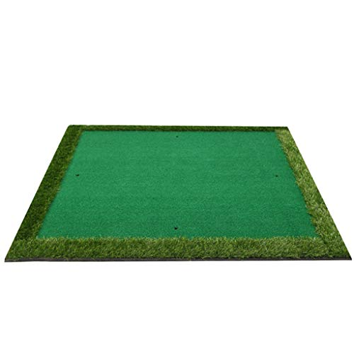 Qujifang Golf Mat, Quadratische Monochrome Matte, Vier Löcher Design Swing Trainer, Indoor und Outdoor